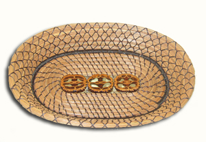 picture of 3 nut oval tray
